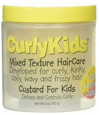 CurlyKids Mixed Hair Haircare Custard for Kids Curly Kinky Coily Wavy Frizz Hair