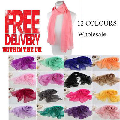 Job Lot of 50 PCS Ladies Scarf Best ReSeller Plain Colour Large Size Simply Best