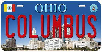 Columbus City Ohio Novelty Car License Plate
