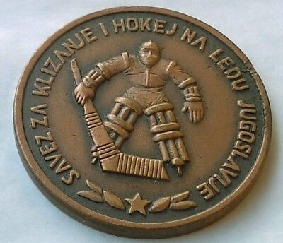 Ice Hockey Federation of Yugoslavia, antique medal, coin, token !