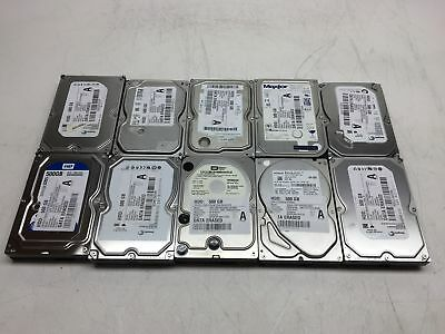 "Lot of 10 500GB 500 GB 3.5"" Mixed Brand SATA Desktop Hard Drives HDDs Working"