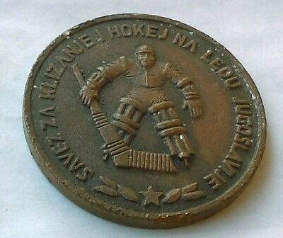 Ice Hockey Federation of Yugoslavia, antique medal, coin !!