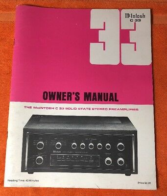 mcintosh c 26 stereo preamplifier owner s manual service information rh picclick com