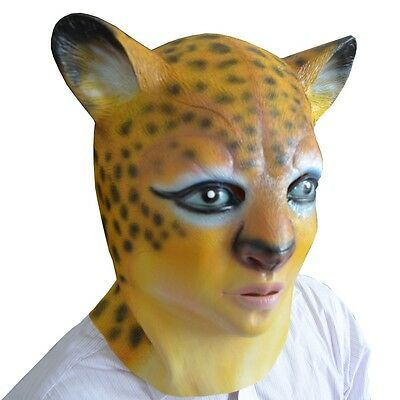 Mask Animals Leopard Animal Animali Latex Mask Leopard Carnival Halloween