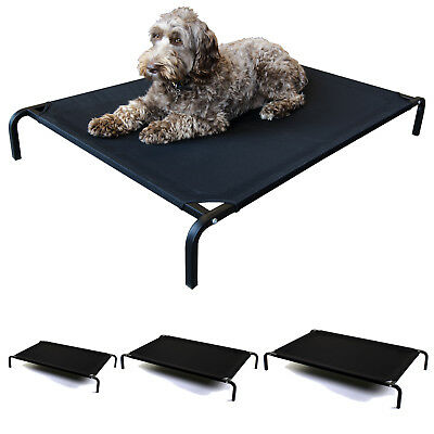 Elevated Pet Bed Dog Cat Portable Raised Indoor Outdoor Camp Cot Black 3 Sizes