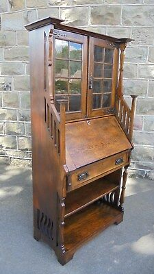 Antique Arts & Crafts Bureaux Bookcase Desk