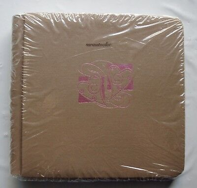 Creative Memories Amore Tan 7x7 Album Coverset Pink foil hearts BNIP