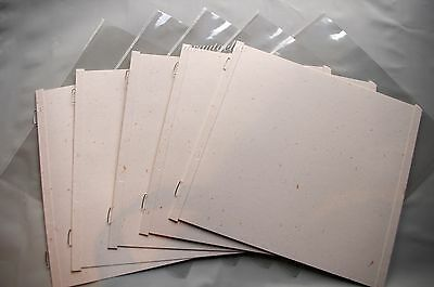 Creative Memories 7x7 Gold Dust Scrapbook Pages & Protectors - set of 5