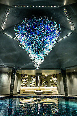 Dale Chihuly 2k piece Chandelier 12x12' Includes Install worldwide Glass Art B/O