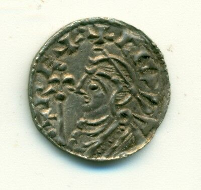 Great Britain Canute c. 1035 Silver Penny Short Cross Aelfnoth on Lincoln Ch EF