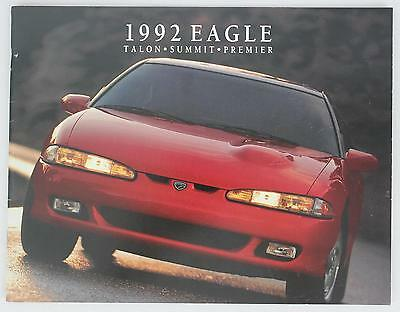 Jeep Eagle 1992 Talon Summit Premier Sales Brochure / Literature