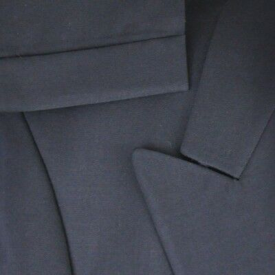 41R Pierre Balmain Navy Wool Double Breasted Suit;  Pleat Cuff Suspenders