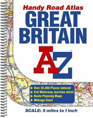 Great Britain Handy Road Atlas (Street A... by Geographers' A-Z Map Spiral bound