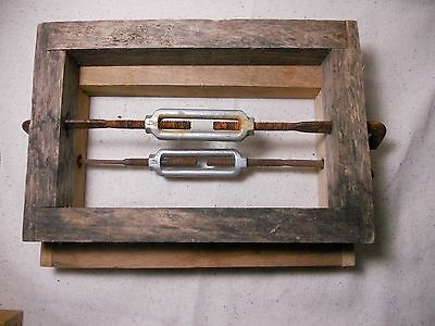 Pair of Short Rails Wood Adjustable Antique Storage