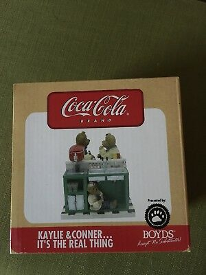 KAYLIE & CONNER IT'S THE REAL THING Boyds Bears Coca Cola 2005 New In Box
