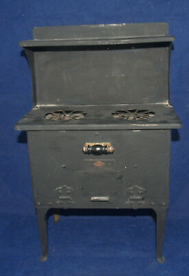 Antique Metal Cook Stove Miniature Childs Toy Empire Electric Toy Range