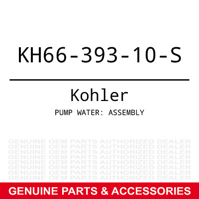 Genuine Kohler PUMP WATER: ASSEMBLY Part# KH66-393-10-S