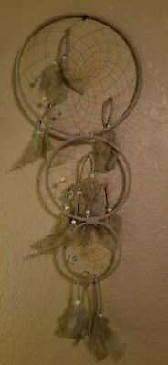 Large 3 Tier Dreamcatcher - Authentic Native American Made BEAUTIFUL PIECE