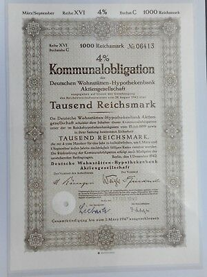 Goldpfandbrief Landesbank Westfalen 1000 Goldmark 1929   (19)