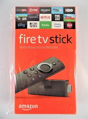 AMAZON FIRE TV STICK~w/ ALEXA VOICE REMOTE~STREAMING MEDIA PLAYER~2ND GEN~2016