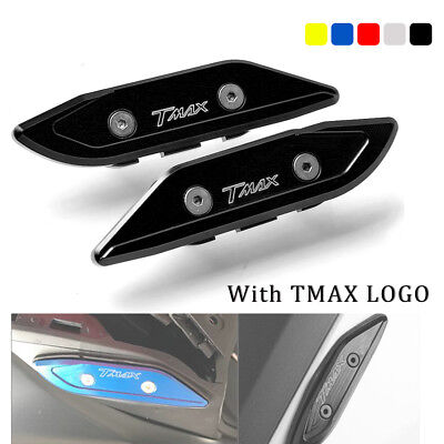 CNC Rear Mirror Mount Hole Cap Cover For Yamaha Tmax T-MAX 2012-2017 LOGO:TMAX