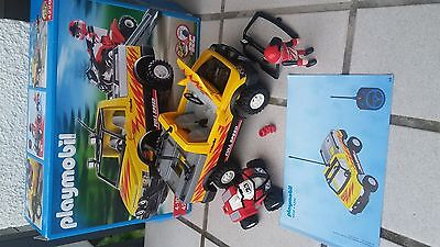 Playmobil 4228 pick up mit Racing Quard Rennfahrer TOP OVP