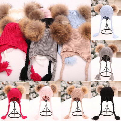 Cute Toddler Kids Girl&Boy Baby Infant Winter Warm Crochet Knit Hat Beanie Cap