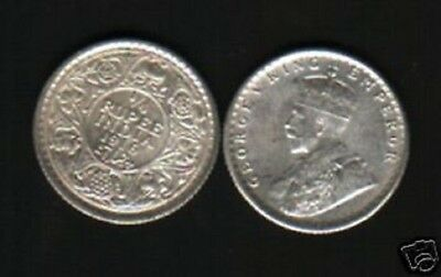 India British 1/4 Rupee Km518 1916 King George V Rare Au Indian Silver Coin
