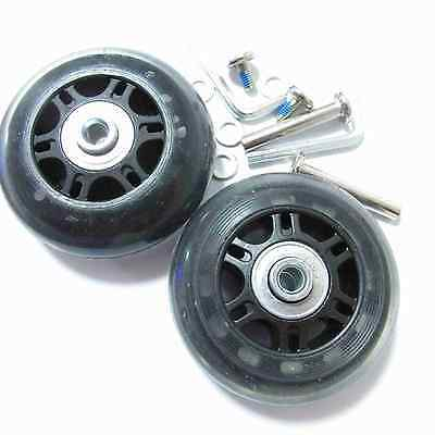 2 Set Luggage Suitcase Replacement Wheels Axles Deluxe Repair OD 70 mm NEW