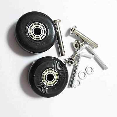 2 Set Luggage Suitcase Replacement Wheels Axles Deluxe Repair OD 40mm