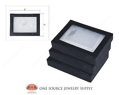 """3 New Riker Display Mounting Boxes Riker Boxes Riker Display Cases X-Small 4""""x3"""""""