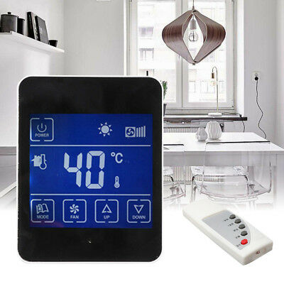 LCD Digital Room Air Thermostat Temperature Controller Panel + Remote Control