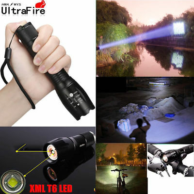 Ultrafire 50000Lumens Light T6 Zoomable Tactical LED 18650 Flashlight Torch Lamp
