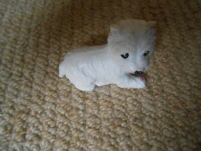White Toy Scotty Dog For Barbie / Sindy Doll Accessory