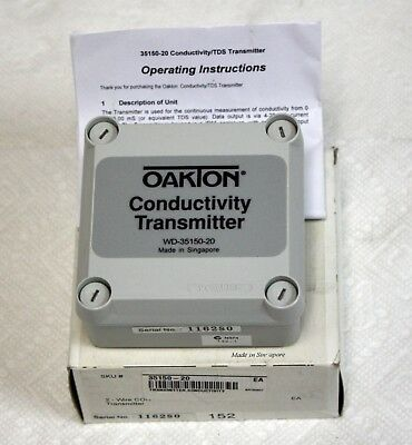 NEW Oakton WD-35150-20 2 Wire Conductivity Transmitter Without Display. $100 Off