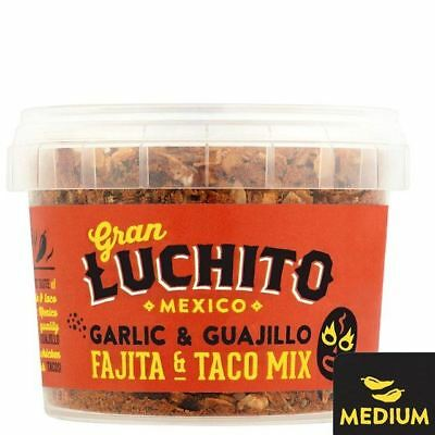 Gran Luchito  Garlic Guajil Fajita & Taco Mix 55g (Pack of 6)