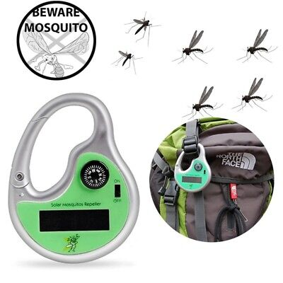 Solar Powered Camping Outdoor Mosquito Insect Repellent Portable Repeller