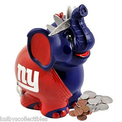 NEW YORK GIANTS Thematic Elephant Coin Bank 2013 Statue Figurine Kid's NFL** New