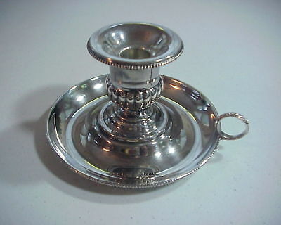 Antique STERLING SILVER CHAMBER STICK CANDLE HOLDER 263 Grams