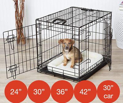 Folding Metal Puppy Car Crate By Mr Barker Dog Training Cage 5 sizes 24-42 Inch