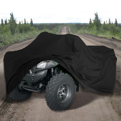 ATV Bike Quad Utility 4 x 4 300D Heavy Duty Waterproof Rain Cover Black Large
