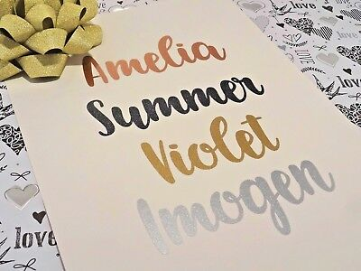 Hen Party Glitter Decor Rose Gold Gift Box Stickers Glass Name Decals Wedding