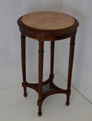 French Antique Louis XVI Marble Topped Occasional Table / Gueridon