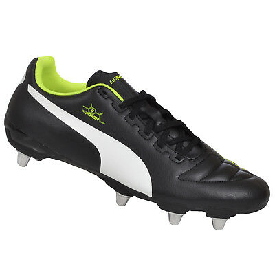 Puma Mens evoPower 4 Low Cut SG Soft Ground Rugby Boots - Black - 9.5UK