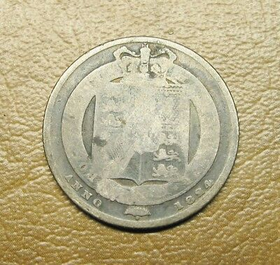 1824 Sterling Silver English Shilling, George Iv King