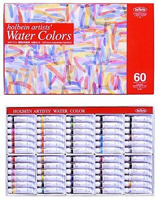 Holbein transparent watercolors 60 colors set W411 5ml 2 Nos.