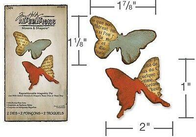 Tim Holtz Alterations Movers & Shapers Die ~Butterflies Set (Special Was $26