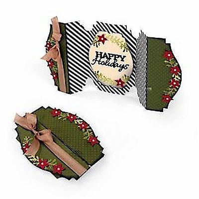 Sizzix Thin Framelits Die Set ~Happy Holidays Fold A Long Card Code 660666 6Pk