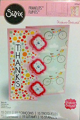 Sizzix Thin Framelits Die Set ~Triple Playful Flip-Its Card (Special Was $26)