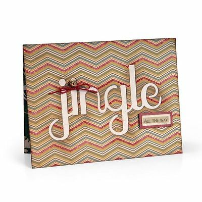 Sizzix Thin Framelits Die Set ~Card With Jingle Cut Out (Special Was $26)